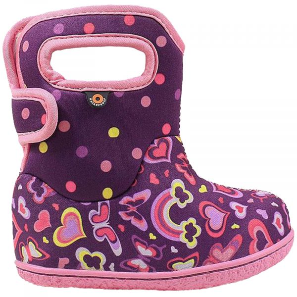 GIRLS BABY BOGS RAINBOW PURPLE WASHABLE INSULATED WARM WELLIES BOOTS 724651